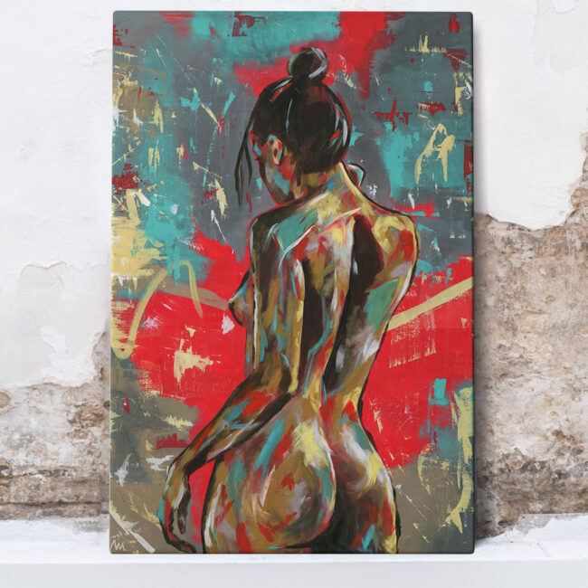 painting of Naomi Lucia, abstract painting of naked woman