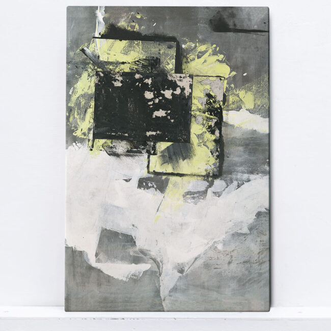 abstract painting yellow black