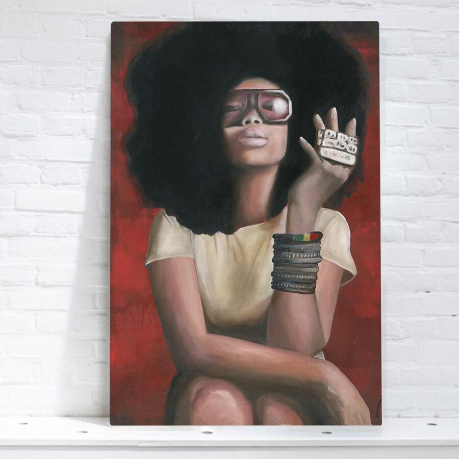 artwork of Erykah Badu