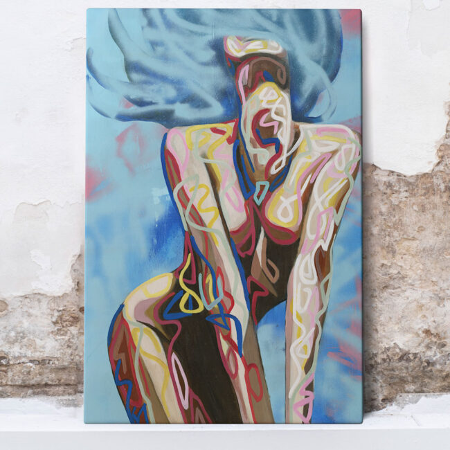sexy abstract painting of naked woman