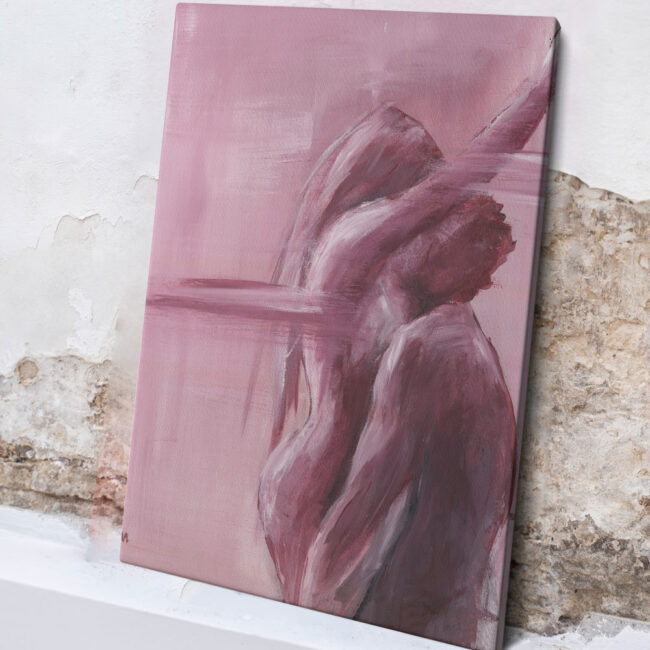 love couple painting pink