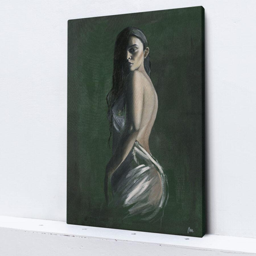 artwork of Sabrina Claudio, painting of woman