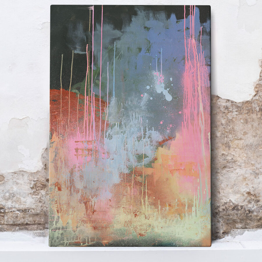 abstract painting colourful, spray paint abstract painting