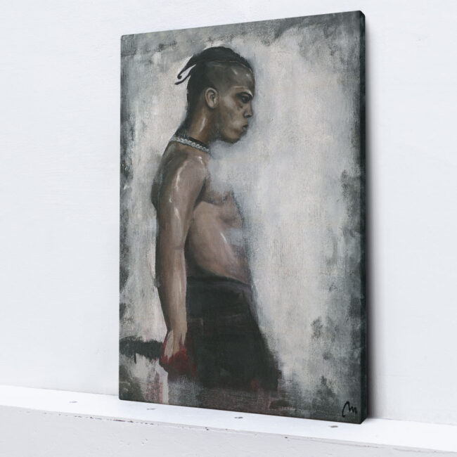 painting of XXXtentacion, artwork of xxxtentacion