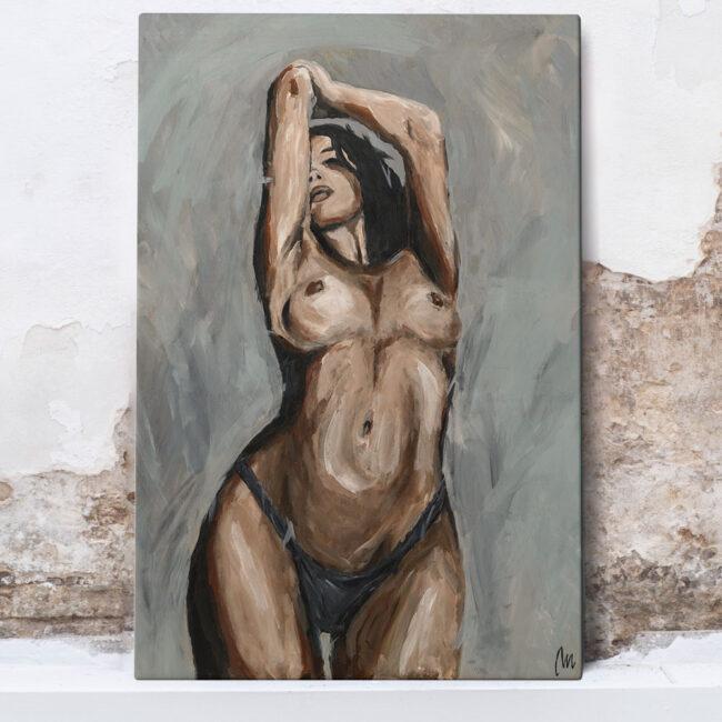 woman art on canvas, female body wall art