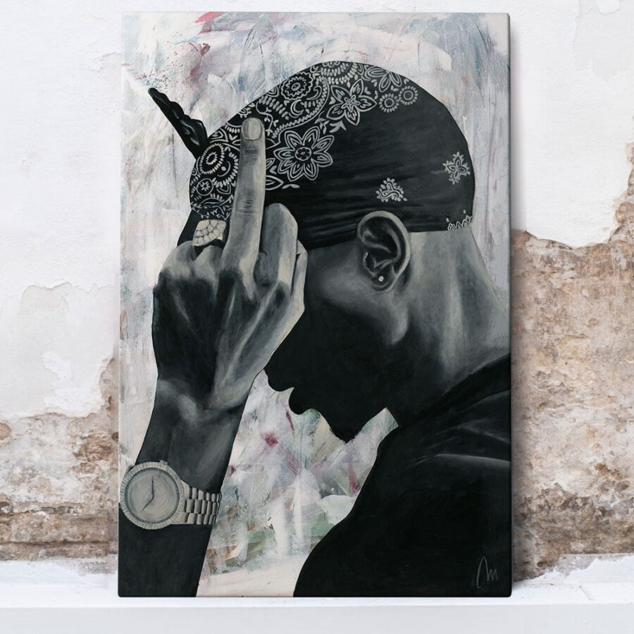 2 PAC painting wall art