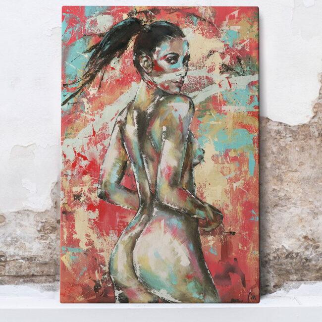 Shayna Senior woman abstract art painting, canvas, wall art