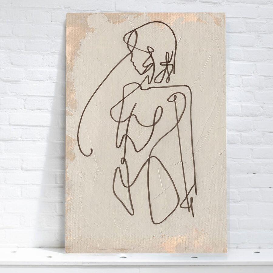artwork woman lines