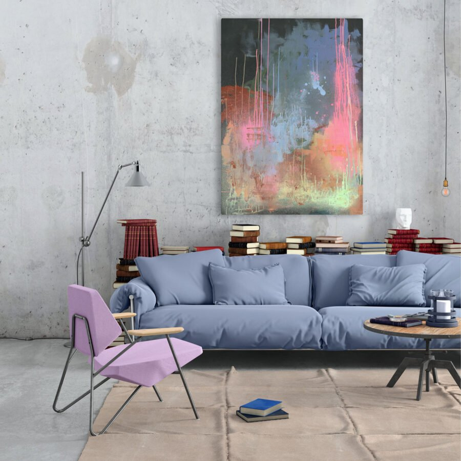 hand painted abstract painting